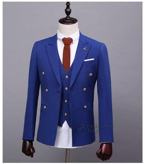 mens royal blue suits  pants formal dress mens stage