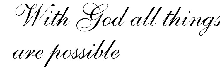 With God All Things Are Possible Tattoo Script Free Scetch