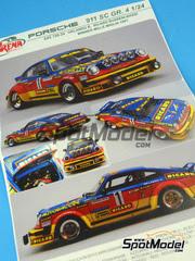 Maqueta de coche 1/24 Arena - Porsche 911SC Grupo 4 Ricard Nº 1 - Nicola Busseni + Bassi - Mile Miglia 1981 - maqueta de resina