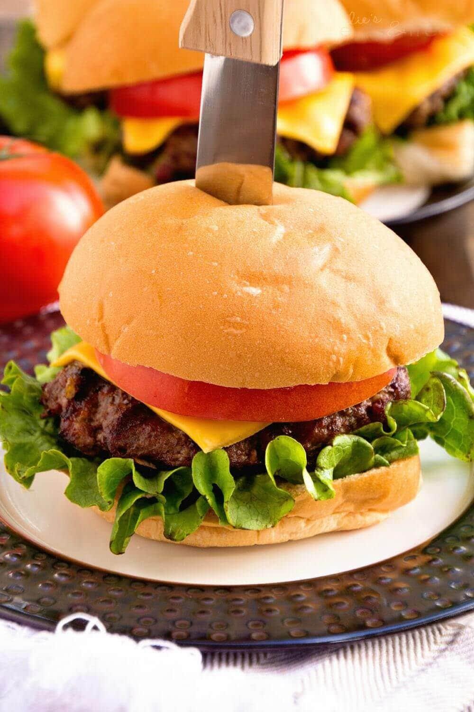 Whiskey Bacon Cheddar Burger | Julie's Eats & Treats