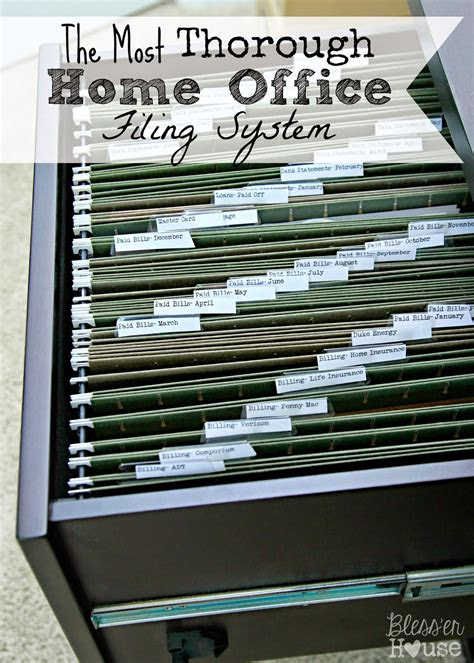 organizing    home office filing system