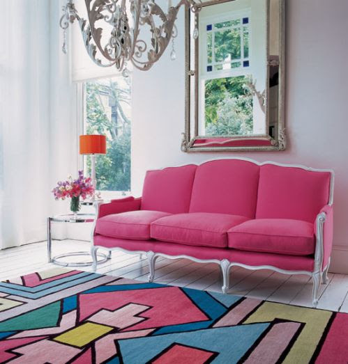 Loving the pink sofa