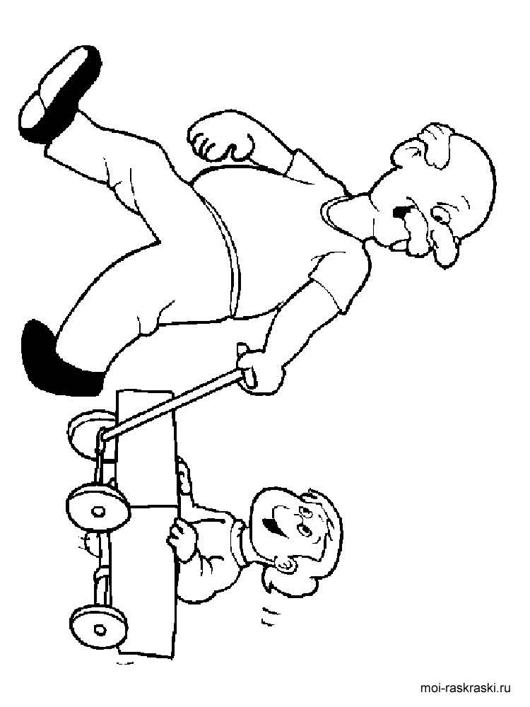 Grandpa coloring pages. Free Printable Grandpa coloring pages.