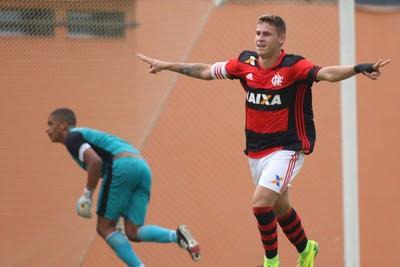 Matheus Sávio comemoração  (Foto: Gilvan de Souza / Flamengo)