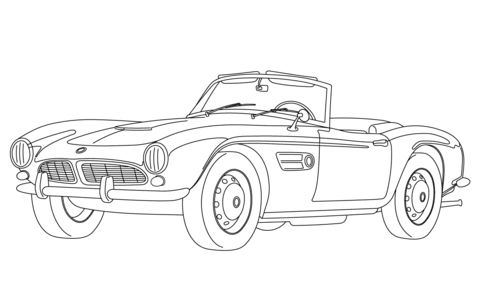 Ausmalbild Classisches Cabrio Ausmalbilder Kostenlos Zum Ausdrucken