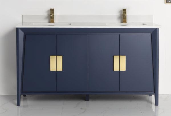 60 Larvotto Navy Blue Contemporary Double Sink Bathroom Vanity Cl 2 Bentoncollections