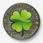 St. Patrick's Day 4 Leaf Clover 9 Inch Paper Plate