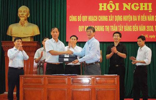 Hà Nội: Quy hoạch chung xây dựng huyện Ba Vì đến năm 2030