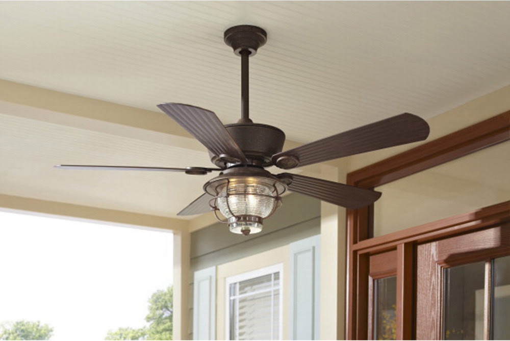 """Outdoor/Indoor 52"""" Patio Ceiling Fan + Remote Transitional ..."""