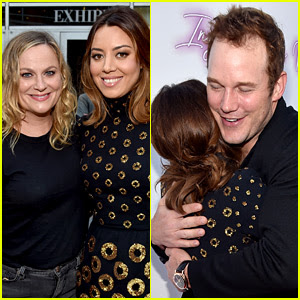 Chris Pratt & Amy Poehler Support Aubrey Plaza at Her Movie Premiere!