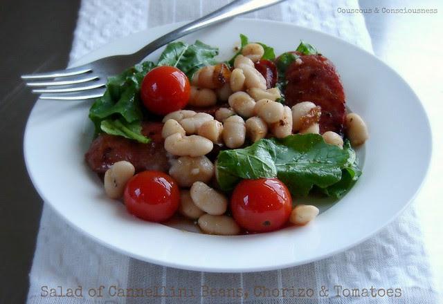 Cannellini Bean, Chorizo & Tomato Salad