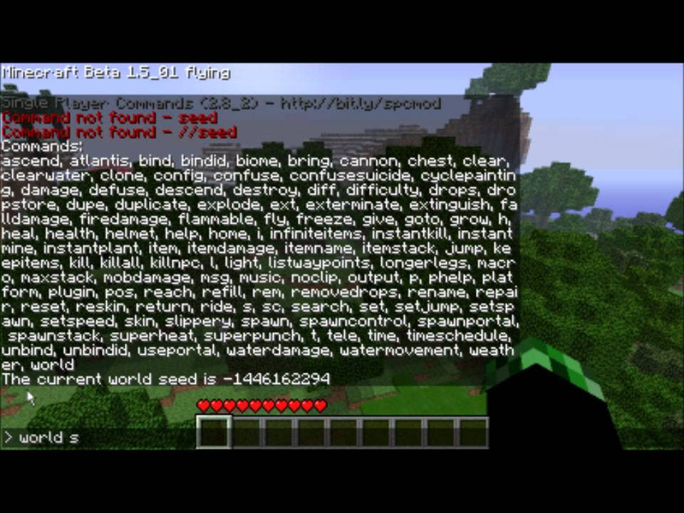 Minecraft How To Find Your World Seed - YouTube
