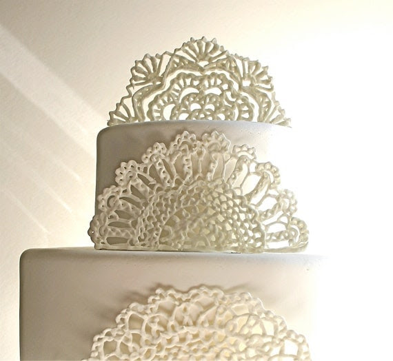 Sugar Doilies, Sugar Lace, Edible Cake Embellishments/Decorations 3