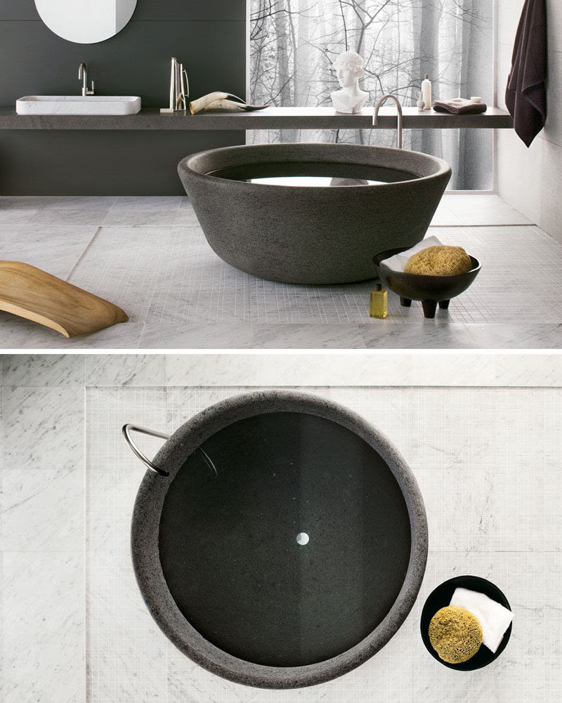 8 Stunning Examples Of Bathtubs Made From Solid Stone ...