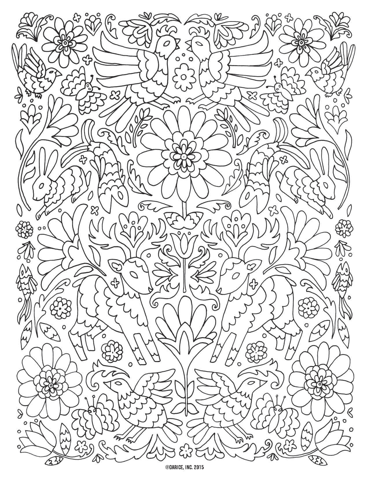 Adult Colouring Bird Stock Illustrations – 610 Adult Colouring ... | 1650x1275