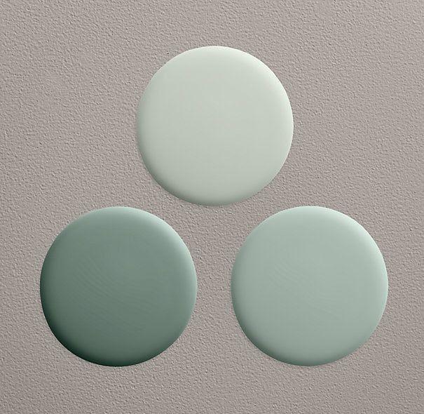Restoration Hardware Silver Sage collection - Blue Sage in our master bedroom, Silver Sage in our guest bathroom