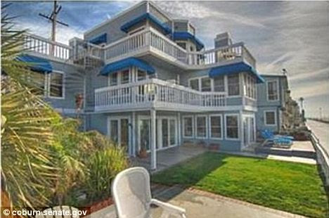 Luxury: This beach house, featured in the original 90210 television series could receive mortgage interest rate deductions if listed with the IRS as a second home