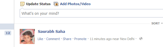 Blank Facebook Status
