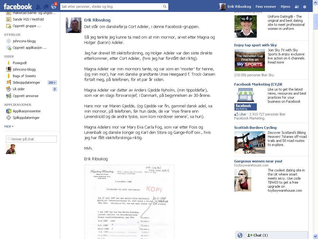 mer fra facebook adeler