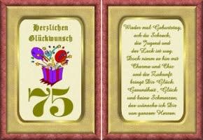 Verse Zum 75 Geburtstag Kostenlos
