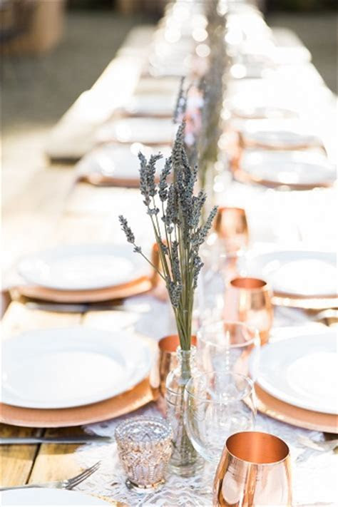 Wine Country Wedding with Copper Cup Favors   Love & Lavender