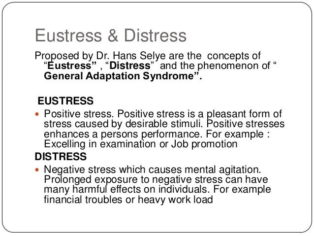 Stress management and strategies to cope with individual ...