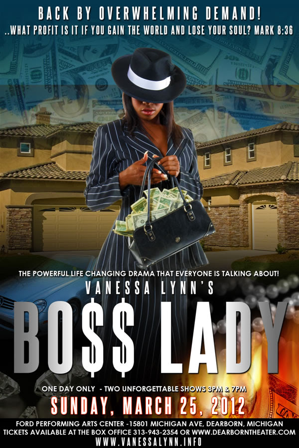 BUY TICKETS ONLINE for Boss Lady, the most talked about play of 2011