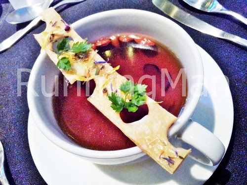 W Hotel Singapore 14 - Chicken Consomme With Black Truffle And Mushroom Ravioli