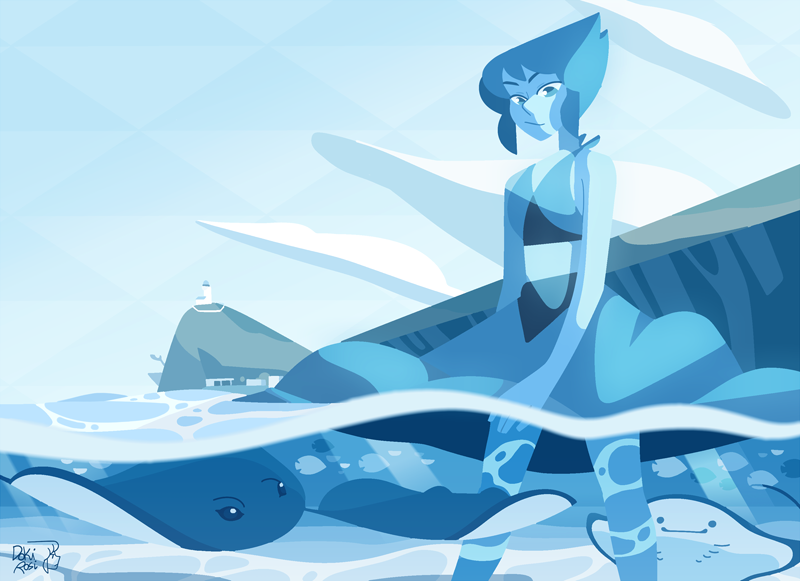 "💧 Lapis Lazuli 💧 ""No. something is seriously wrong with me. It took me so long to learn to like this planet."" [ please do not repost on Instagram, thanks ]"