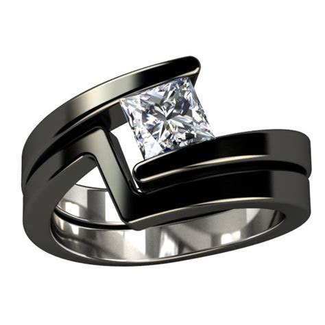 17  ideas about Black Wedding Rings on Pinterest   Black