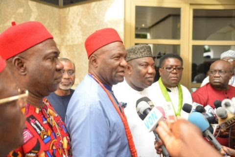 What President Buhari Discussed with Igbo Leaders in Aso Rock
