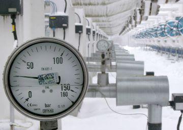 Detalle del único depósito de gas en los bálticos.