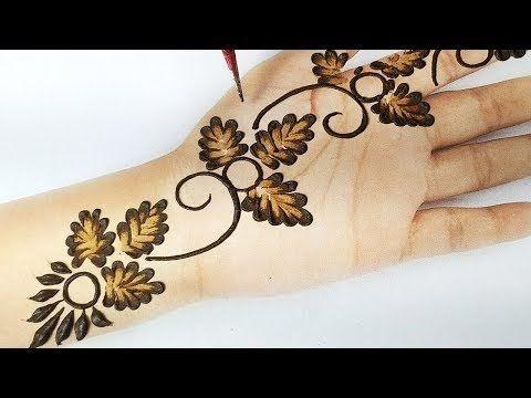 simple mehndi design using buds