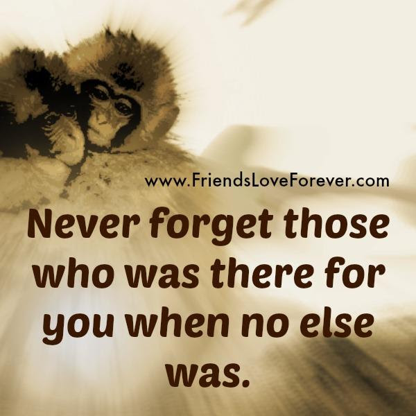 Never Forget Those Who Was There For You During Hard Times Friends