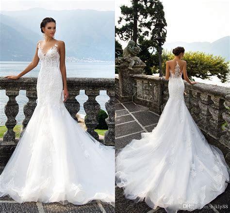 Milla Nova GENVY 2017 Wedding Dress Jewel Sheer Neck