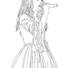 Taylor Swift Singing Close Up Coloring Pages Hellokidscom