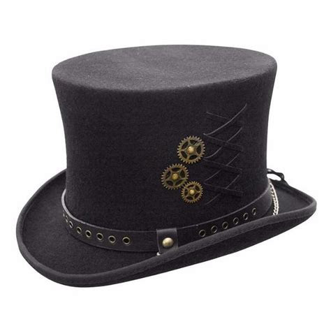 streampunk wool top hat conner hats