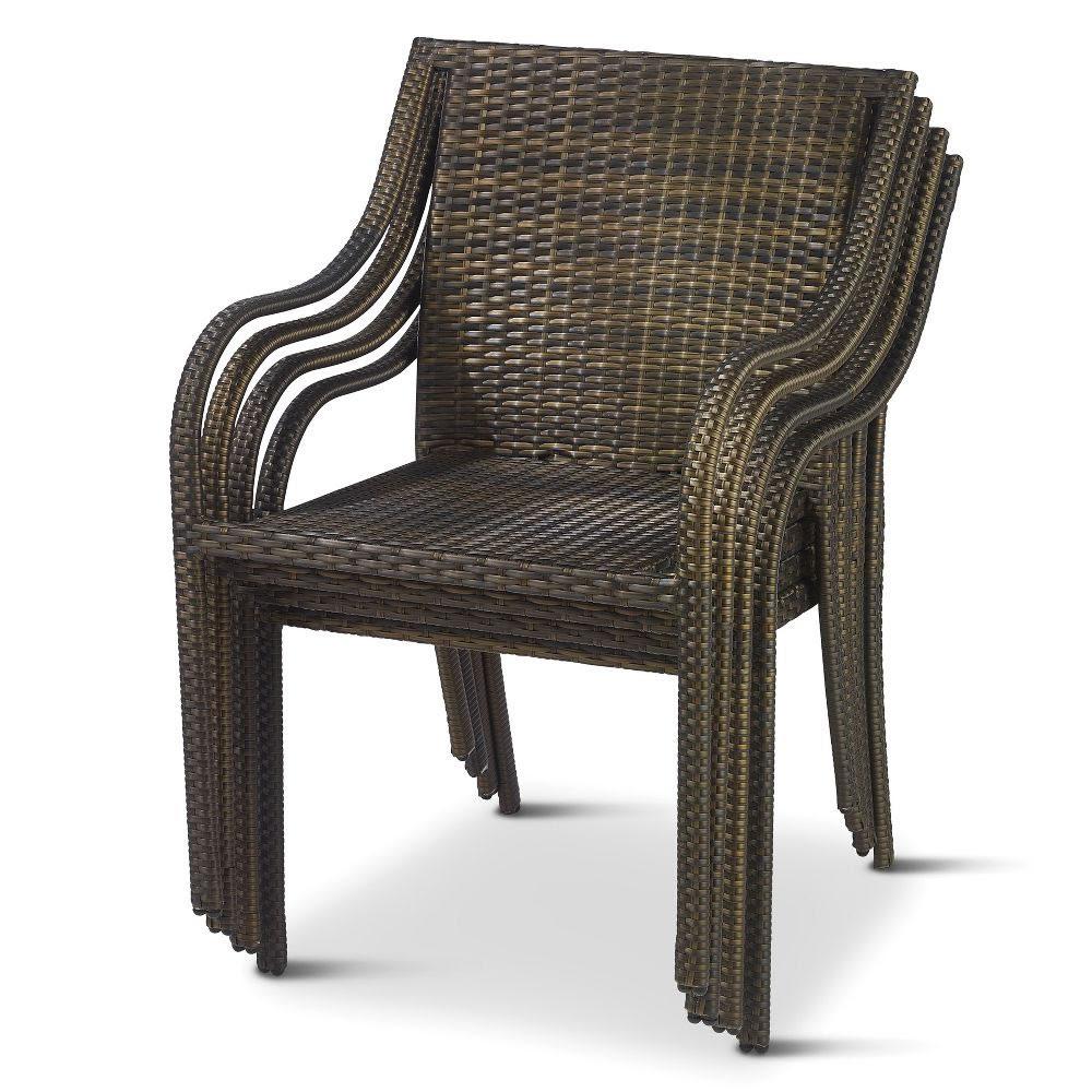 The Stackable Outdoor Wicker Chairs - Hammacher Schlemmer