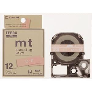 KING JIM テプラPROカートリッジ マスキングテープ「mt」ラベル ピーチ SPJ12GP