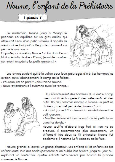 """TAPUSCRIT """"Noune, enfant de la préhistoire"""""""