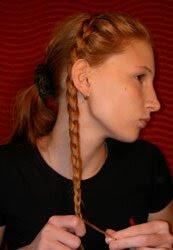 Haare Flechten Kupferzopf