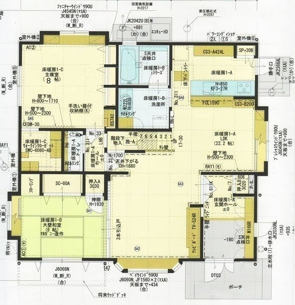 間取り再考 - 一条工務店にお願いしてセゾンFで建て直します