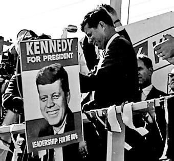 Kennedy en campaña electoral