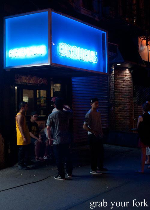 neon signage baohaus new york nyc east village