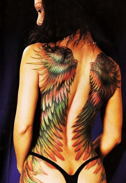 Angel Wing Tattoos On Back For Girls Tattoo Love