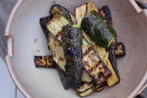 Grilled summer squash & zucchini