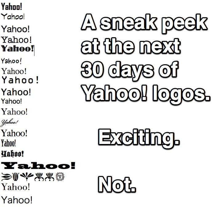 A Sneak Peek at the Next 30 Days of Yahoo Logos