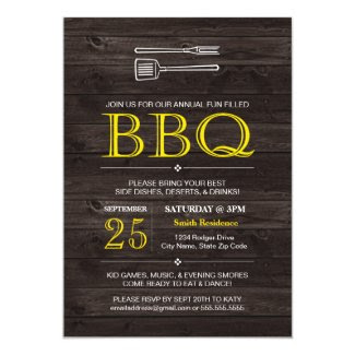 "BBQ! Invitation 5"" X 7"" Invitation Card"