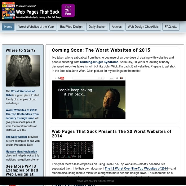Web Design Techniques And Principles From Web Pages That Suck Learn Good Web Design By Looking At Bad Web Design Home Page Pearltrees