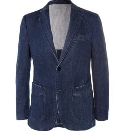 Officine Generale Slim-fit Selvedge Denim Suit Jacket
